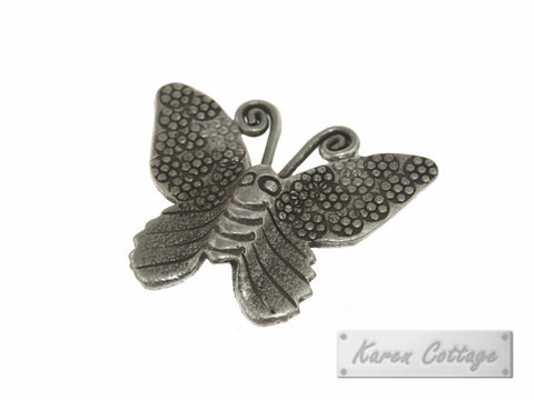 Karen Hill Tribe Silver Angle Butterfly Charm : C23-018