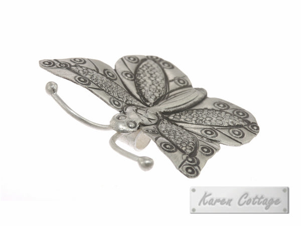 Karen Hill Tribe Silver Deep Forest Butterfly Charm : C23-020