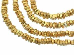 Karen Hill Tribe Gold vermeil Plain Heishi Bead, 1.5 mm : E31-035G