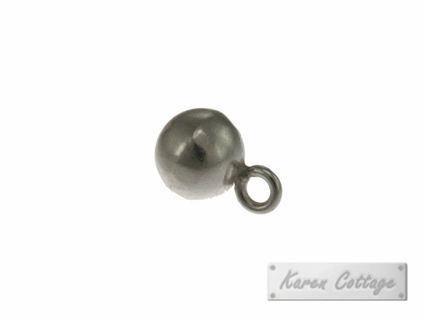 Karen Hill Tribe Silver Plain Ball Charm : C33-001