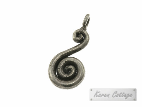 Karen Hill Tribe Silver Solid Wire S-Swirl Charm : C44-016