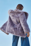 HANNA LILAC FAUX FUR COAT