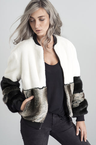ALICE FUR BOMBER