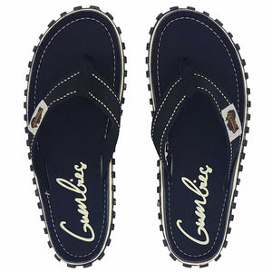 Islander Canvas Flip-Flops Black
