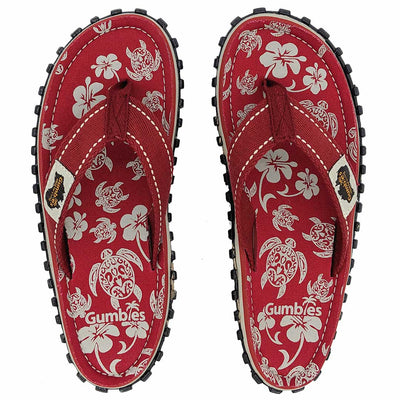 Islander Canvas Flip-Flops - Pacific Red