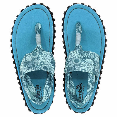 Slingback Sandals - Turquoise