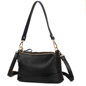 2019 Leather Bag Women Handbags Soft Female Crossbody Bag For Ladies Vintage England Style Casual Tote Hobo Sac A Maine