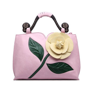 2019 New Classical Handbags Rose Flower Retro Lady Diagonal Cross-National Wind Shoulder Polyester Cotton Embossed Roman Bag