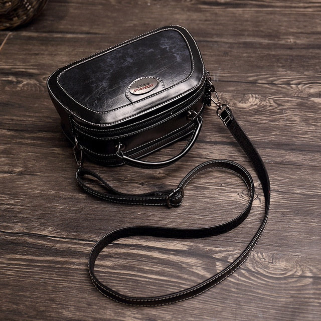 2019 Summer New Fashion Genuine Leather Bag Single Shoulder Bags Messenger Vintage Luxury Handbag Women Bags High Quality Ladies