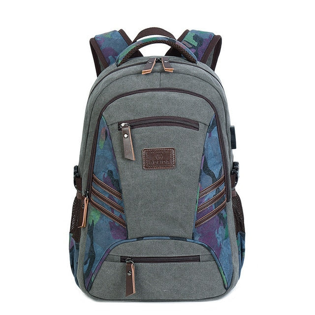 2019 Women Men Canvas Backpacks Large School Bags For Teenager Boys Girls Travel Laptop Backbag Mochila Rucksack Vintage