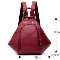 2019 Women Multifunctional Backpack Female Leather Shoulder Bags School Bag For Teenage Girls Travel Back pack Sac A Dos Femme