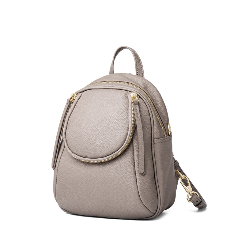 2019 new COW leather backpack Genuine Leather backpacks women elegant soft school bag travel tote bag high quality Bolsas#ql201
