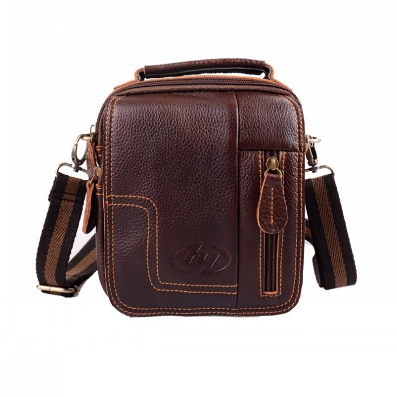 2020 New Business Travel Men's Genuine Leather Solid Color Messenger Bag Classic Design Casual Cowhide Leather Messenger Bag