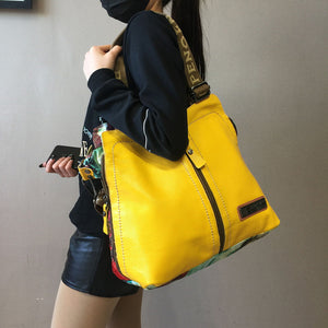 2020 luxury fashion Women handbags female crossbody bag printing shoulder canvas bag portable slung genuine leather big bags