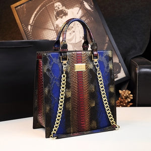 2020 new Cowhide Leather Women handbags fashion female Chain Serpentine portable tote bag ladies shoulder messenger bags Luxury