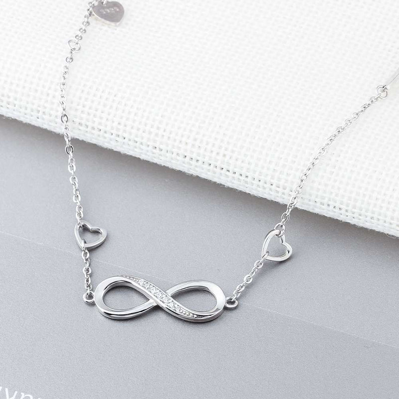 925 Sterling Silver Bracelets for Women Infinity Bracelet with Cubic Zirconia 8 Shape Chain Bracelet Jewelry Gift(Lam Hub Fong)