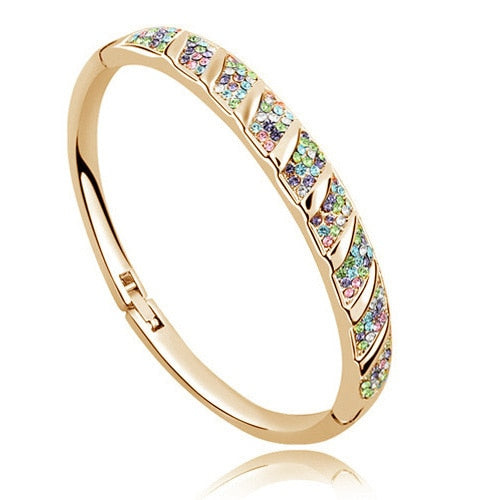 AAAA+ Rhinestone Circle Cuff Bracelet Bangl crystal fashion jewelry charms girls accessories promotion Free shipping top quality