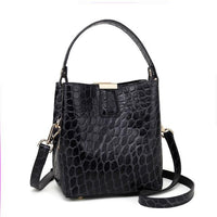 Alligator Bucket Bags Women's Bags Handbags 2020 Retro Totes Ladies Genuine Leather Shoulder Messenger Bags Black Fashion