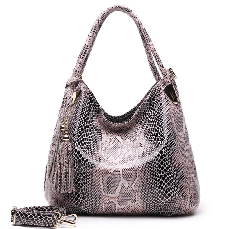 BIG SALE*Individual Fashion Snake Designer Big Capacity Lady Bags New Tassel Embossed PU Leather Cross Body Handbags Women GPY01