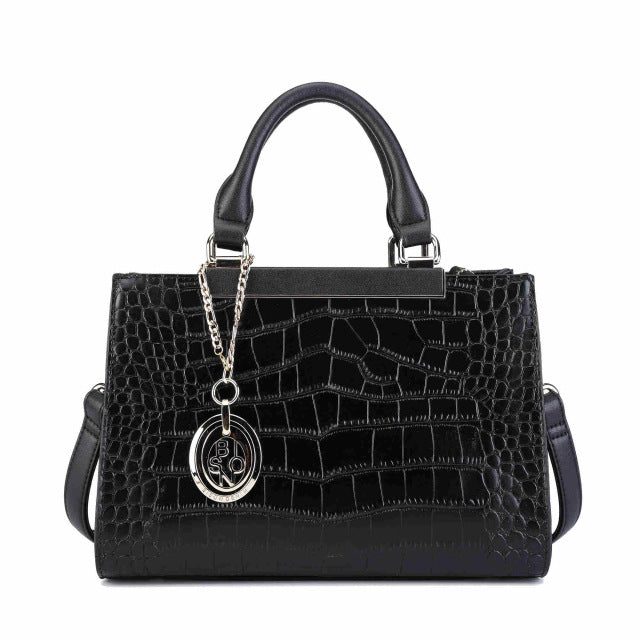 BISONJS Genuine Leather Women Bag Fashion Messenger Shoulder Larger Capacity Top-Handle Business Queen bolsa feminina B1363