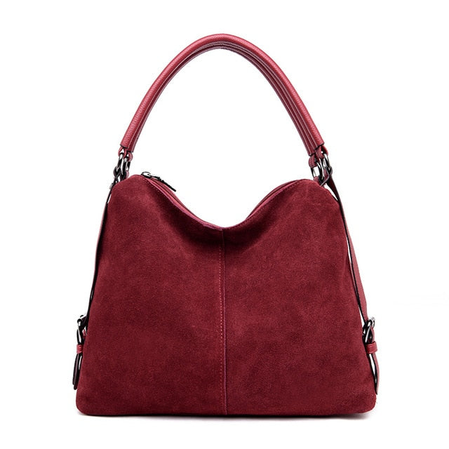 Big casual tote shoulder bag female suede women's handbag leather tassel Large red black blue  ladies hand bags for women 2019