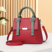 Classic Pure Color Women PU Leather Tote Trend Bags Fashion Shoulder Bag For Mom's Birthday Sac Female Crossbody Handbag