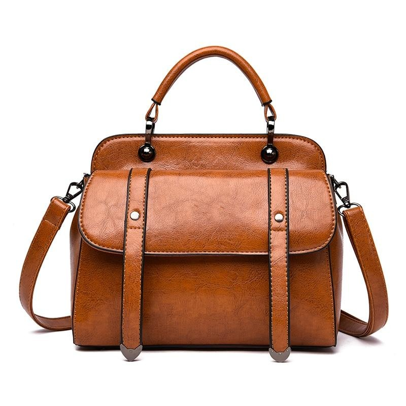 Double Side Hasp Multi Zipper Pocket Women Crossbody Messenger Bag Small Vintage Retro Handbag Leather Bags For Women Bolsa Lady