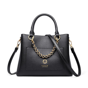 FOXER 2020 Women's Fall Winter Cowhide Leather Handbag Tote Female Commute Large Capacity Shoulder Bag Lady Handle Crossbody Bag