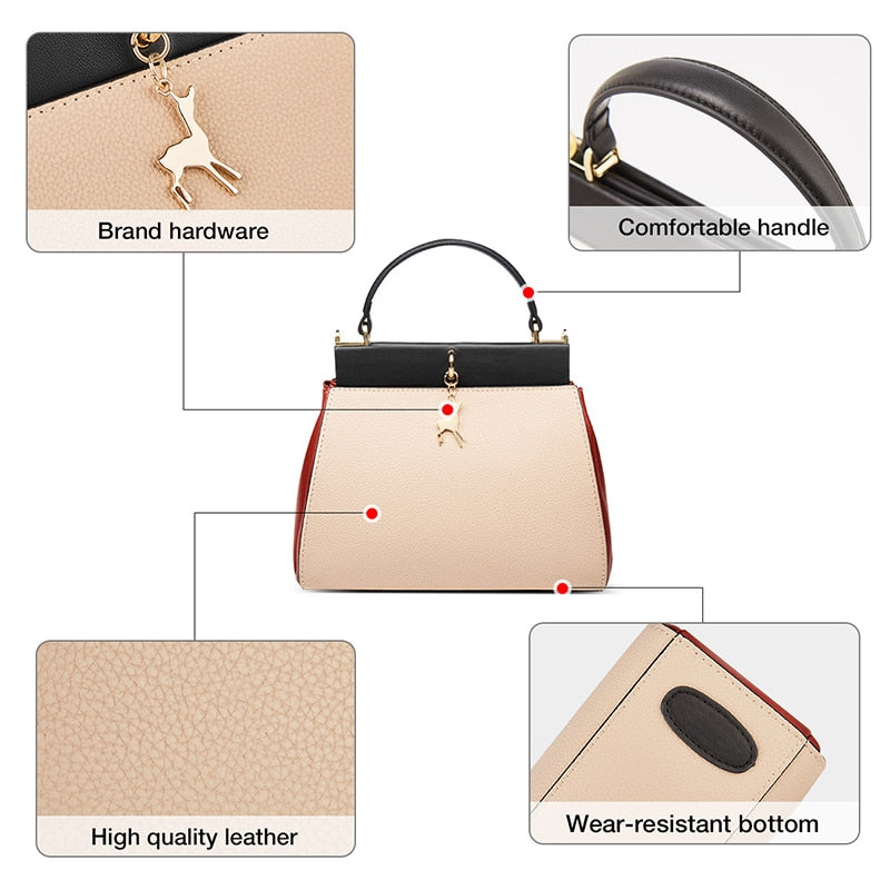 FOXER Business Ladies Handle Bags Women's Elegant Soft Shoulder Bag Cowhide Luxury Small Totes  Large Capacity Purse for Female