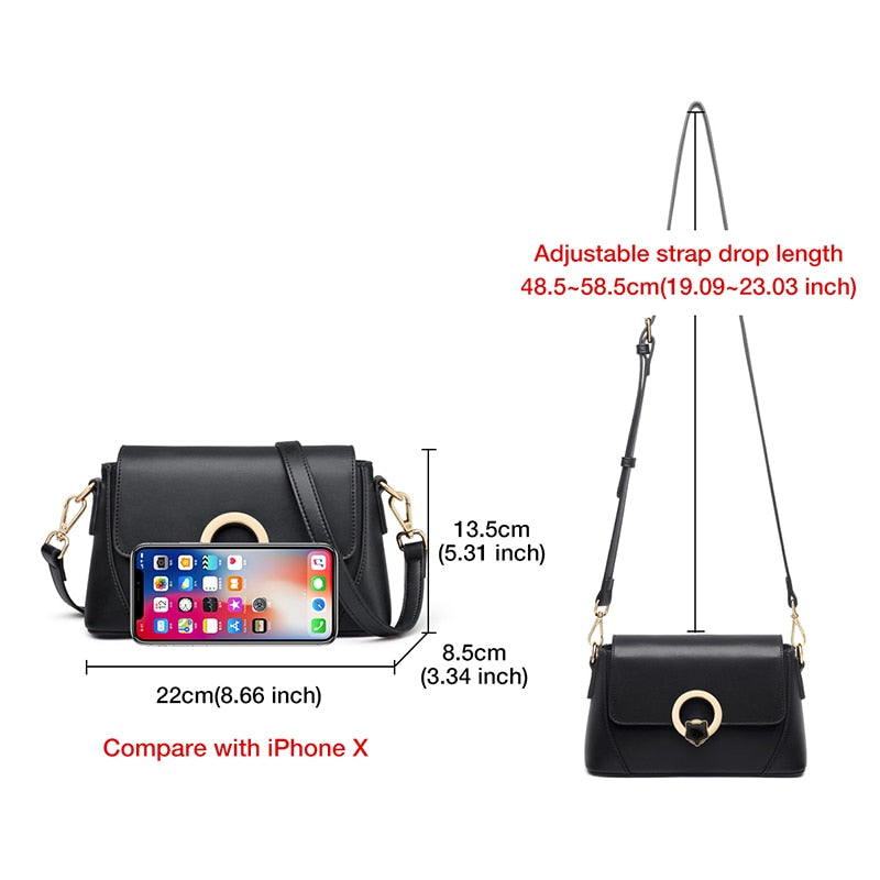 FOXER Crossbody Shoulder Bags Luxury Purse Casual Travel Fashion Cow Leather Girl Messenger Bag for Women Elegant Small Handbag