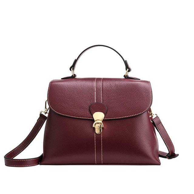FOXER Large Capacity Ladies Commute Handle Bag Genuine Leather Women Soft Shoulder Bags Female Stylish Purse Lady Elegant Totes