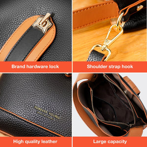 FOXER Women Handbags Shoulder Crossbody Bags Luxury Designer  Ladies Middle Totes Female Vintage Top-handle Purse Fashion Style