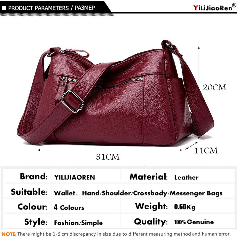 Famous Brand Leather Shoulder Bag Casual Crossbody Bags for Women Designer Luxury Women Messenger Bags Sac A Main Clutch Purse