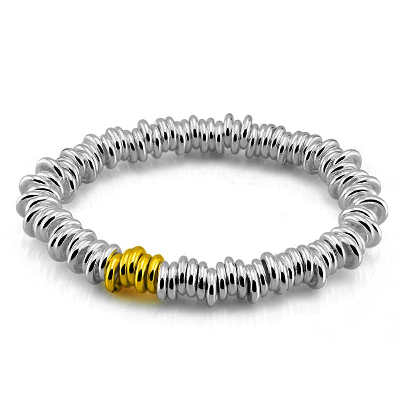 Fashion British wind the bracelet.Solid 925 sterling silver women bracelet.Individuality stretch bracelets.Charming lady jewelry