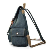 Fashion Denim Cloth Drawstring Backpack Women Casual School Bags For Girls Large Capacity Leisure Female Travel Backpack 9003