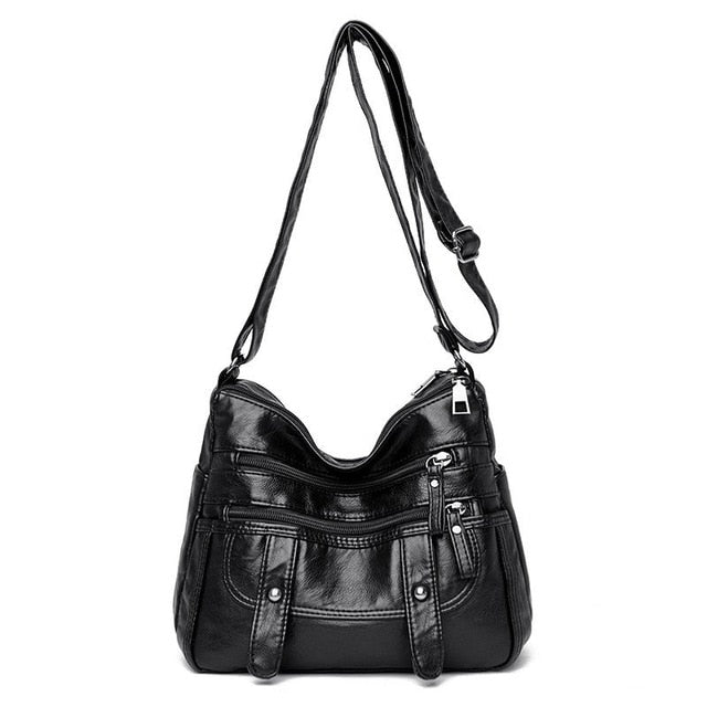 Fashion Soft Skin PU Leather Shoulder Bags Sor Women 2021 Designer High Quality Crossbody Bag Luxury Large Capacity Handbags