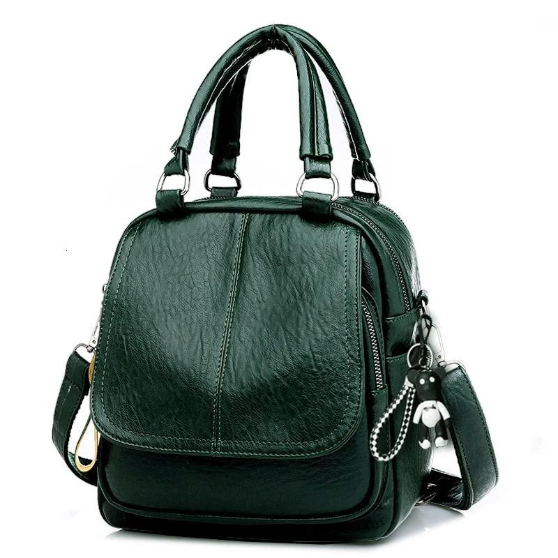 Fashion Women Small Backpack Leather Zipper Crossbody Bags For Women Soft Travel Bag Ladies Messenger Shoulder Bag Mochila Sac