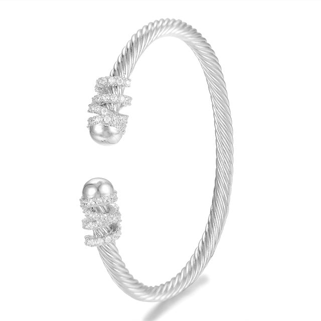 GODKI Trendy Luxury Stackable Bangle Cuff For Women Wedding Full Cubic Zircon Crystal CZ Dubai Silver Color Party Bracelet 2020