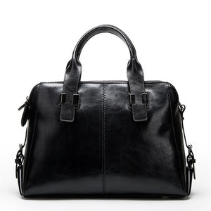 Genuine Leather Women Totes Luxury Handbags Double Zipper Design Ladies Shoulder Bags Designer Real Cowhide Handbag Sac A Main