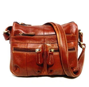 Guarantee 100% Genuine Leather Women Messenger Vintage Shoulder Bag Female Crossbody Soft Casual Shopping Bags For Ladies MM23