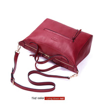 Hengsheng quality genuine leather women handbag with cow leather female shoulder bag women messenger bag fashion red women bags