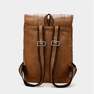High-Quality Business PU Leather Backpack Men Casual Wear-Resistant Bagpack Men Fashion Travel Bags Large Capacity Men's Bag
