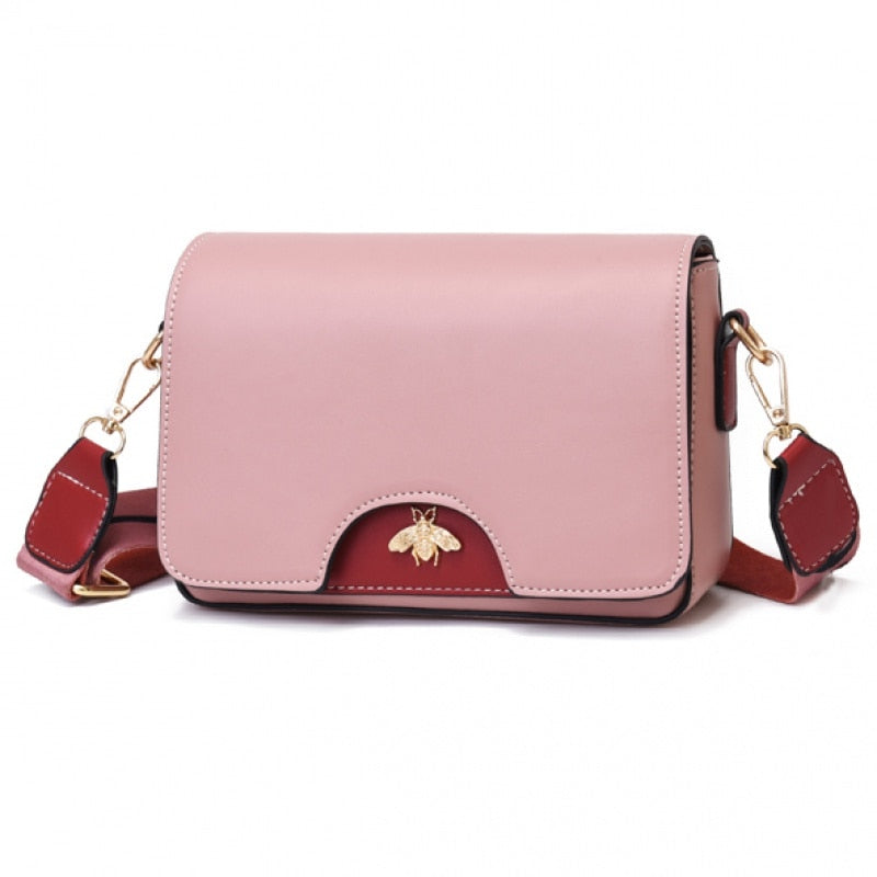 High Quality Wide strap Female Bee Handbag Women Messenger Bags Lady's Bag Purses and Handbag Shoulder Crossbody Bags For Women