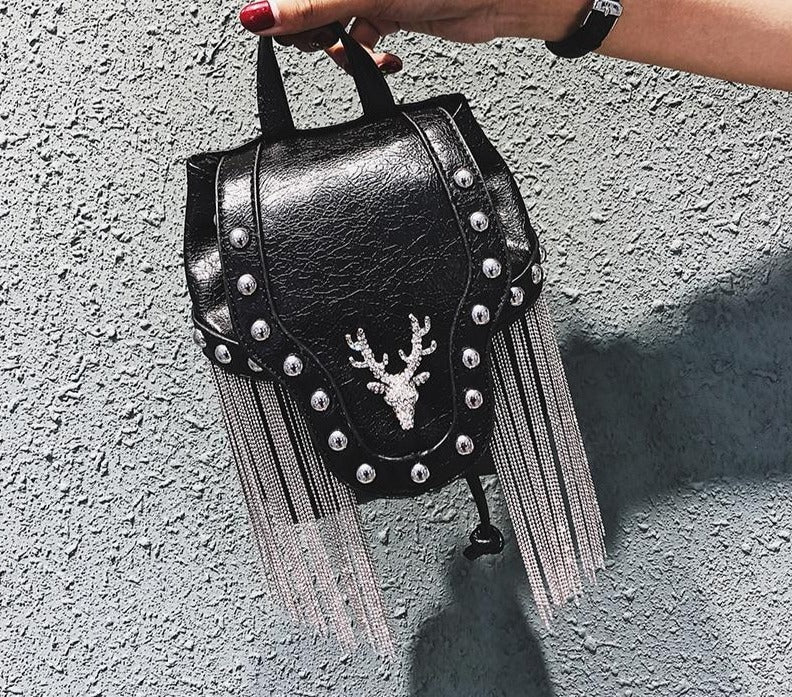 JIEROTYX Fashion Gothic Rock Leather Vintage Retro Steampunk Handbag Shoulder Bag Coin Purse Holder Women Messenger Bag 2020