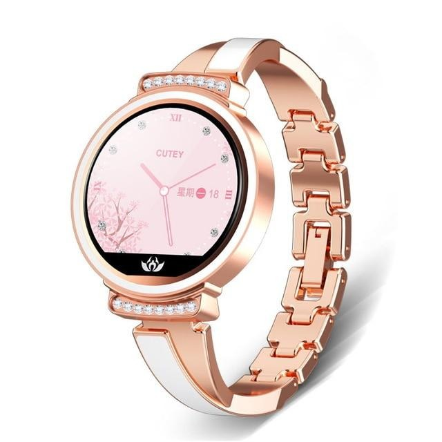 LIGE New Luxury Women Smart Watch Heart Rate Blood Pressure Information Reminder Sport Waterproof Fashion Smart Watch Women+box