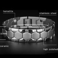Large Mens Bracelet 3 IN 1 Health Energy Bangle Arthritis Twisted Magnetic Exquisite Bracelet Male Gift Power Therapy Magnets