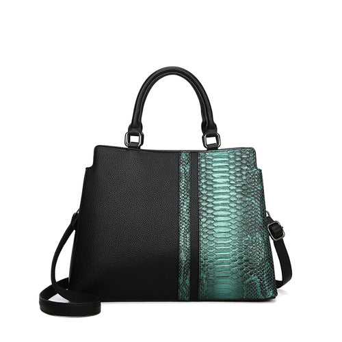 Luxury Crocodile Pattern Women Leather Messenger Handbags Ladies Green Color Party Shoulder Crossbody Bags Sac A Main
