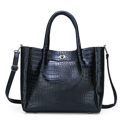 Luxury Handbags Women Bags Designer Alligator Fashion Shoulder Bags PU Leather Brand Tote Crossbody Bags For Women 2019 New