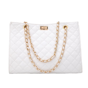 Luxury Handbags Women Bags Designer Leather Chain Large Shoulder Bags Tote Hand Bag Fashion Crossbody Bags For Women 2020 White