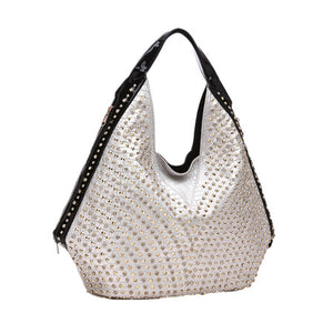 Luxury fashion diamonds Women handbags Large capacity female shoulder bag drill portable rhinestone bag rivet dumplings bags